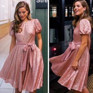 Gal Meets Glam Beatrix Sequin Dress NWT